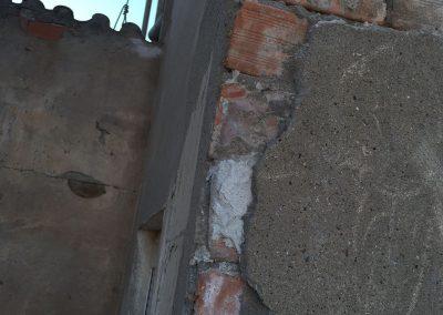 Reparació façana abans